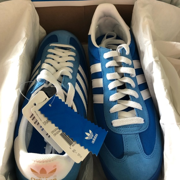 Blue Adidas Dragon Tennis Shoe-10 Men's